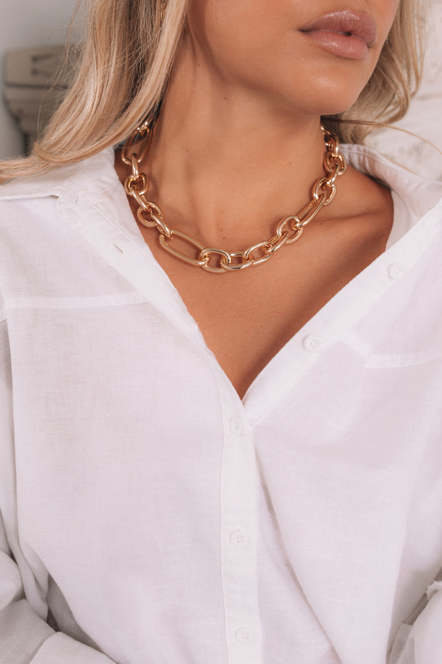 Sidonie Chain Necklace - Gold