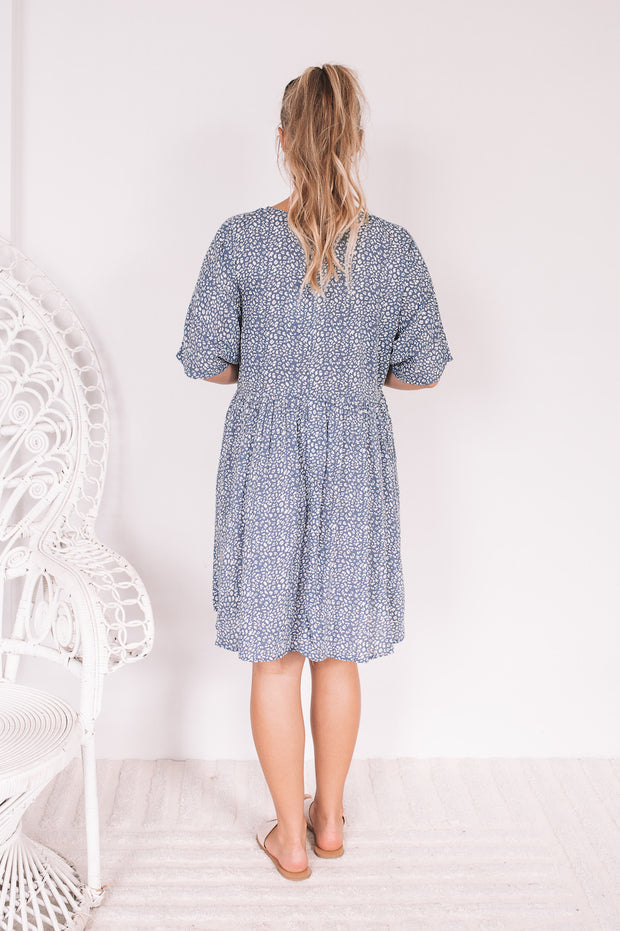 Brandie Dress - Blue Print