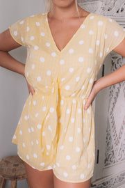 Gale Playsuit - Yellow Spot
