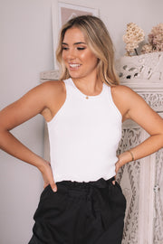 Essence Crop Top - White