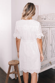 Bela Dress - White Lace
