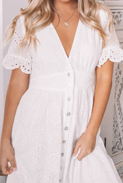 Korbela Dress - White Lace