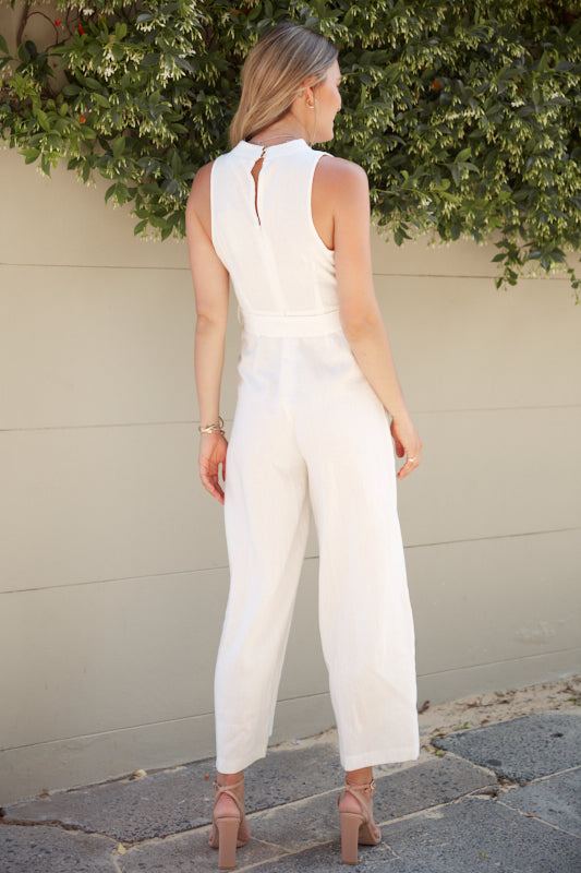 Ahoy Jumpsuit - White