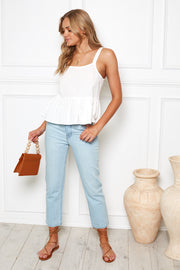 Houston Mum Jean - Light Blue