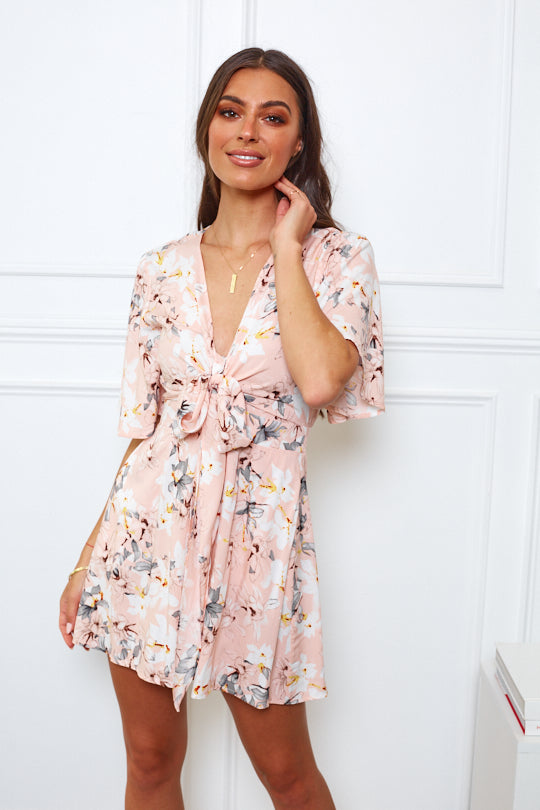 Lilly Playsuit - Pink Print