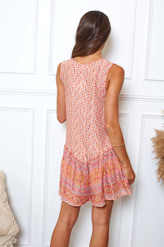 Florence Playsuit - Pink Print