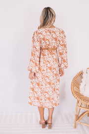 Lorena Dress - Coral Print