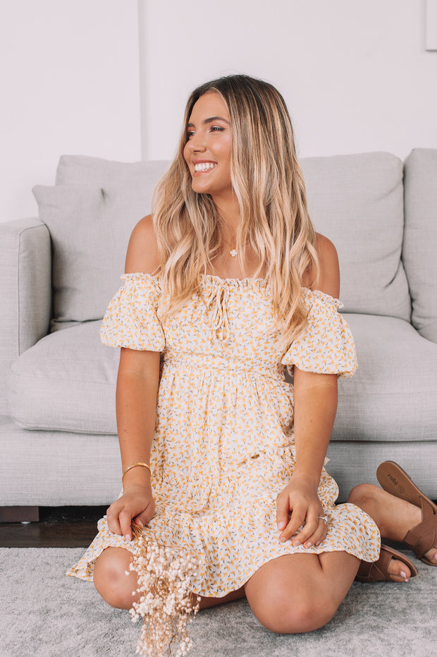 Leo Dress - Yellow Print