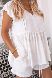 Mila Blouse - White