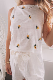 Sofie Top - White Print