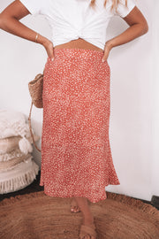 Alexie Skirt - Rust Print