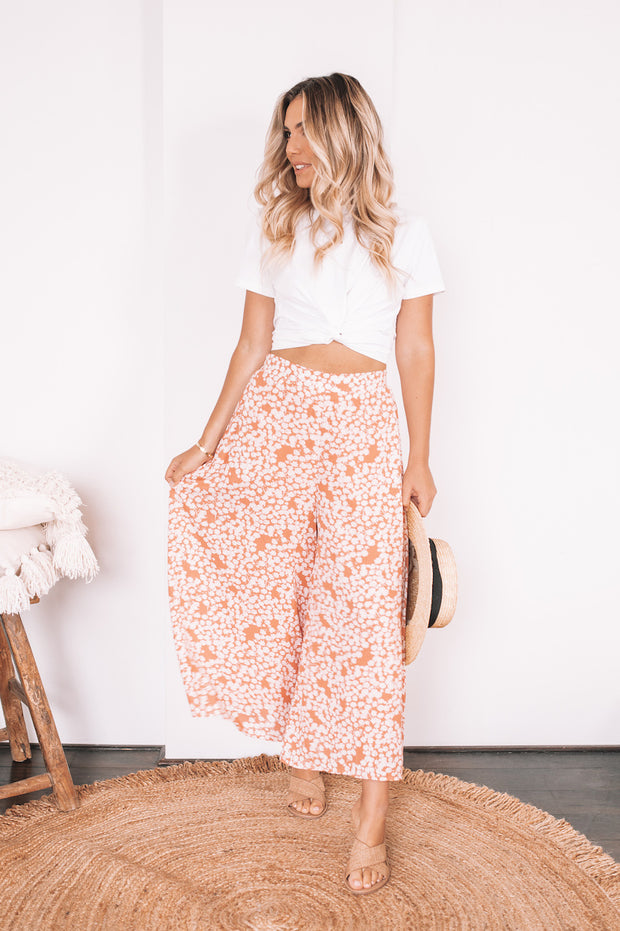 Carried Pants - Rust Print