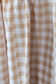 Deserae Dress - Beige Gingham