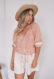 Connie Top - Pink Leopard