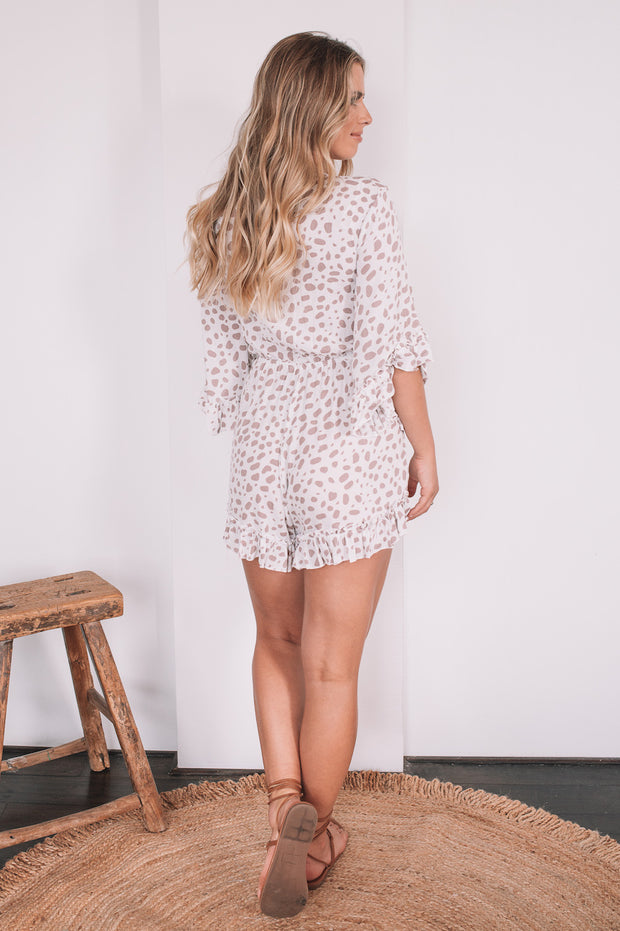 Current Playsuit - Pink Spot