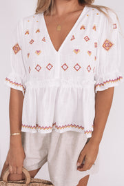 Heritage Top - White