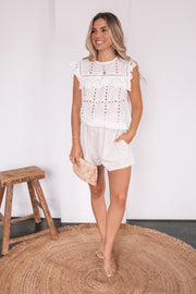 Sue Top - White