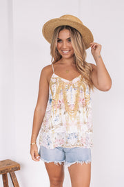 Adelia Top - White Print