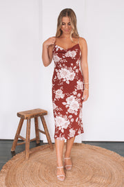Modema Dress - Burgundy Print