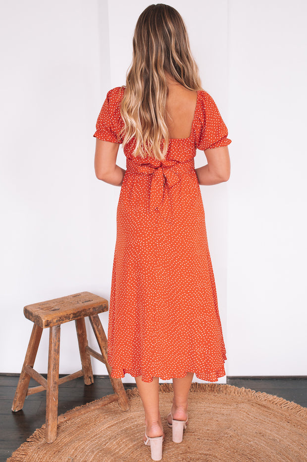 Maxie Dress - Rust Print