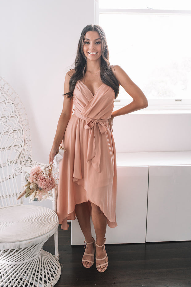 Clarissa Dress - Blush Pink