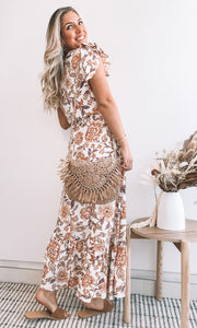 Bayleaf Dress - Beige Print