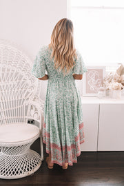 Aloe Dress - Green Print