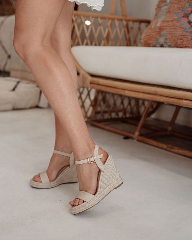 Amaya Wedges - Nude Softee