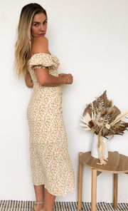 Anika Dress - Yellow Print