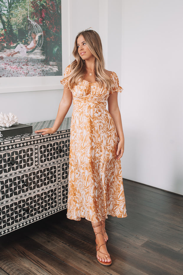 Bess Dress - Orange Print
