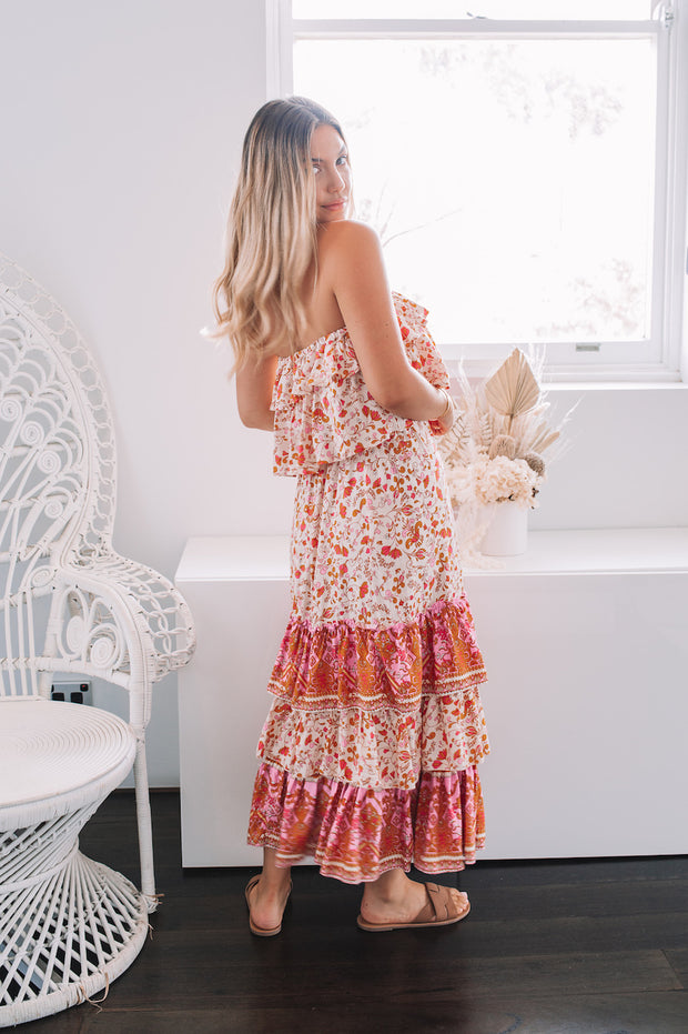 Bobby Dress - Cream Print