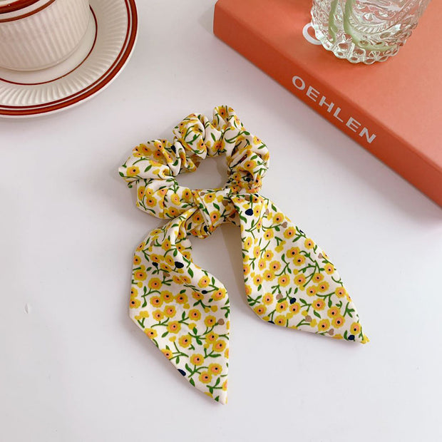 Bunnie Scrunchie - Yellow Print