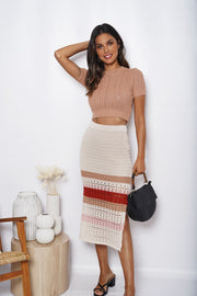 Hermitude Skirt - Cream Multi