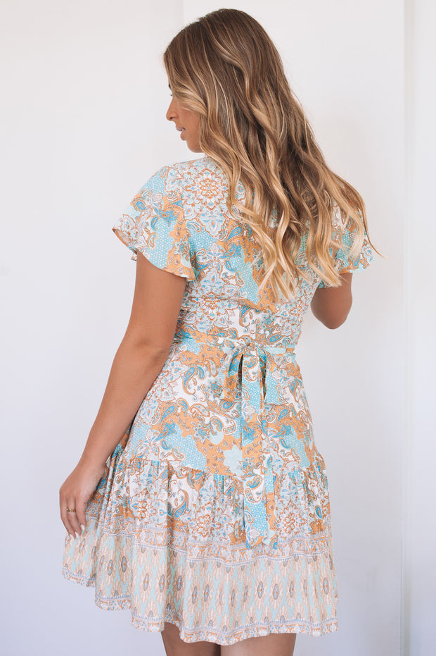 Colleen Dress - Blue Print