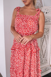 Myla Dress - Red Print
