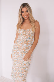 Cassandra Dress - White Print