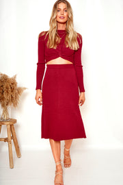 Maizon Skirt - Brick