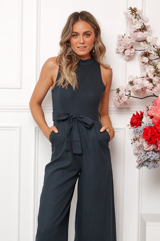 Ahoy Jumpsuit - Navy