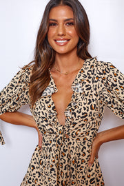 Lively Playsuit - Leopard Print