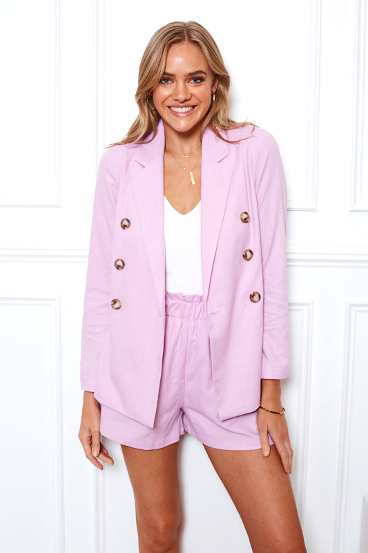 Girl Boss Blazer - Lilac