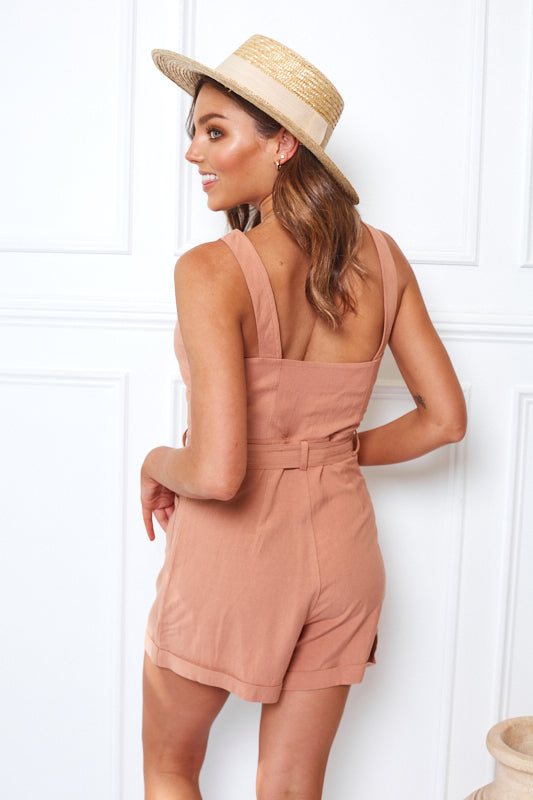 Sarah Playsuit - Rust