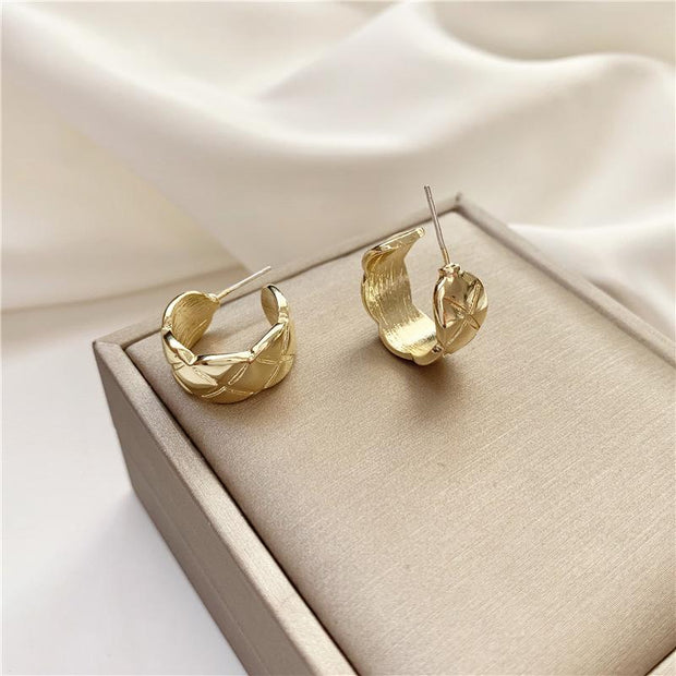 Gemini Hoop Earrings - Gold