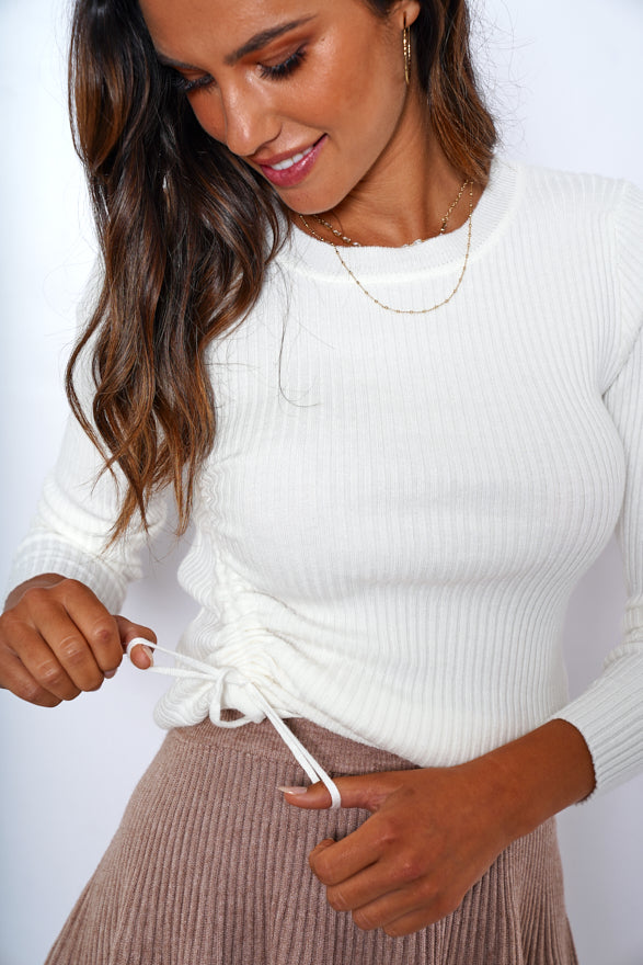 Glimpse Top - White