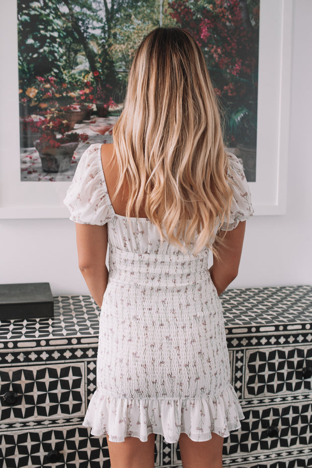 Finnley Dress - White Print