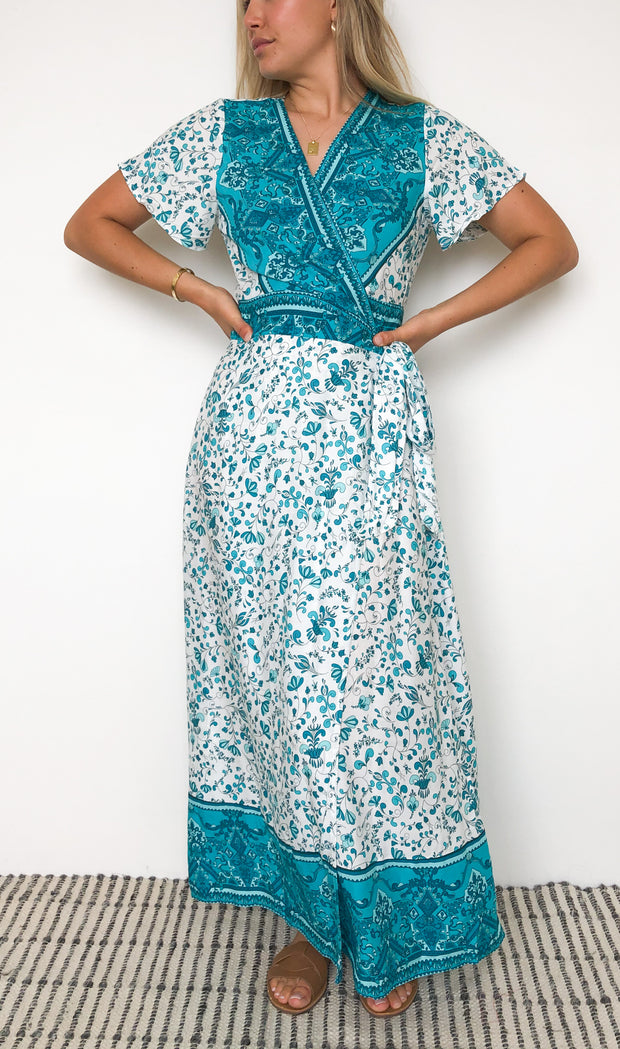 Freddie Dress - Teal Print