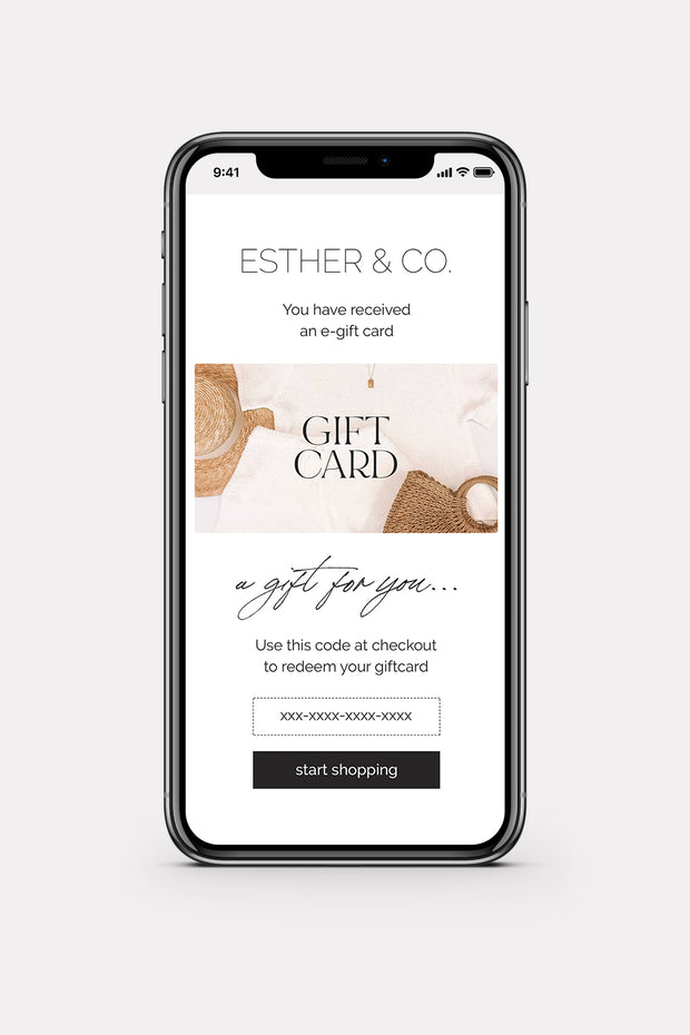 ESTHER & CO. EGIFT CARD