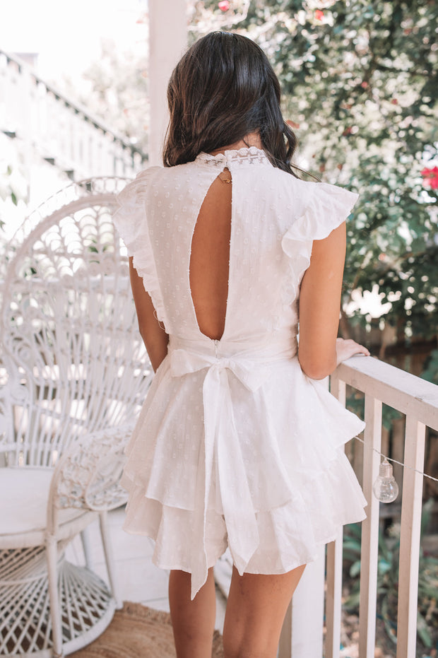 Gabi Playsuit - White