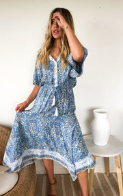 Galiela Dress - Blue Floral