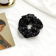 Sandra Scrunchie - Black Print-Accessories-Womens Accessory-ESTHER & CO.