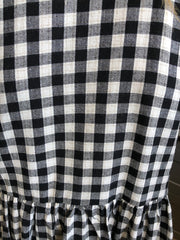 Breonna Dress - Black Gingham